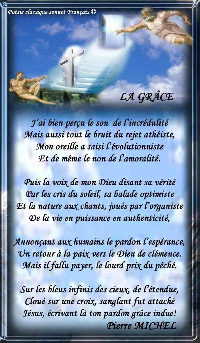 Poésie Classique Sonnet Français La Grâce Nérijapoème