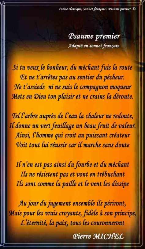 137_SONNET FRANÇAIS_ Psaume premier adapté en Sonnet.