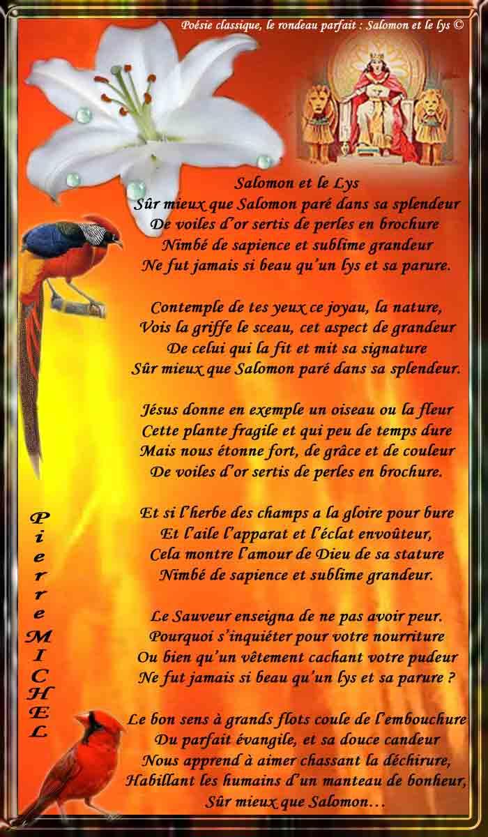 141_RONDEAU PARFAIT_ Salomon et le Lys