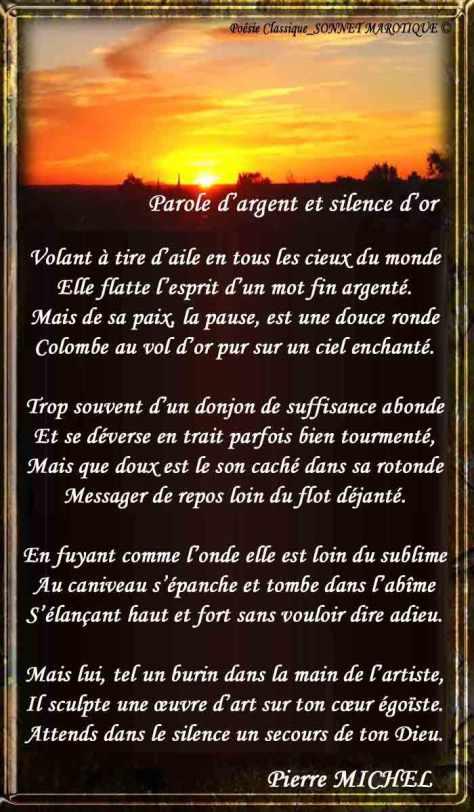 142_POÉSIE CLASSIQUE-SONNET_Parole-d'argent-et-Silence-d'or