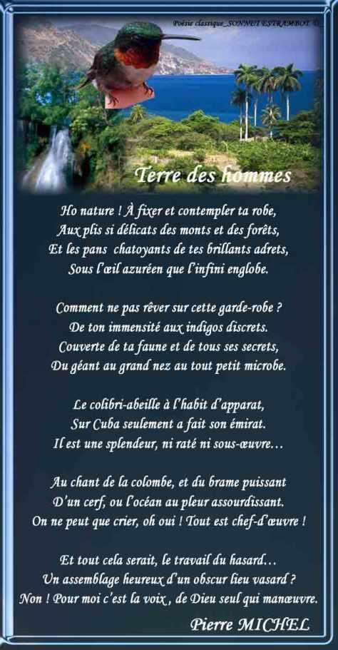 150-SONNET ESTRAMBOT_Terre des hommes____)