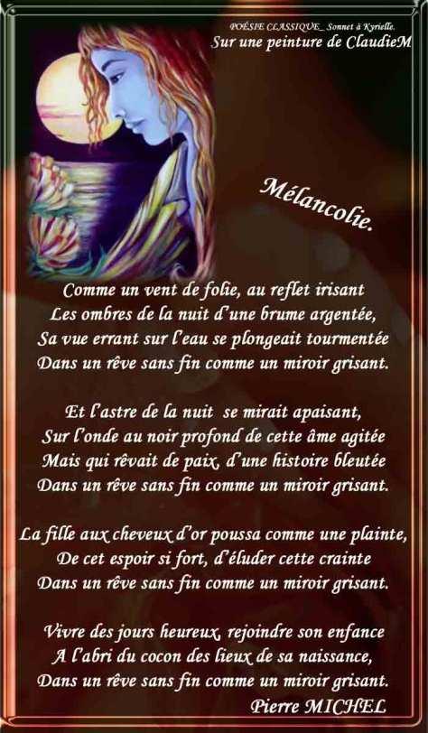 164_SONNET À KYRIELLE_Mélancolie_____