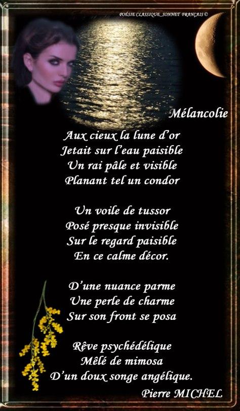 169_SONNET FRANÇAIS_ Mélancolie.______)