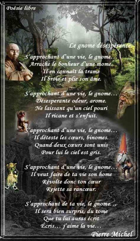 037_ POÉSIE LIBRE_Le Gnome Désespérance_____