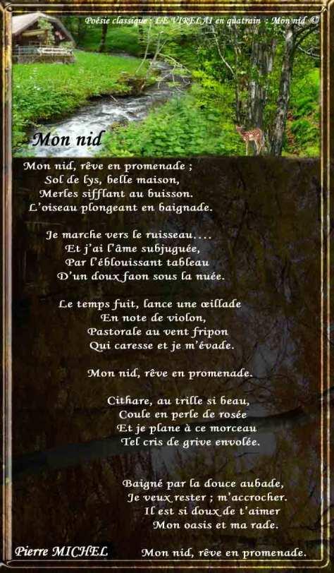 88__LE VIRELAI_en quatrain_ Mon nid_____)